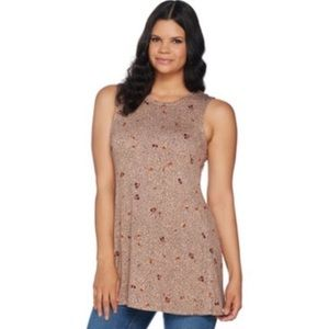 Logo Layers Dusty Rose Graphic Print Layer Tank